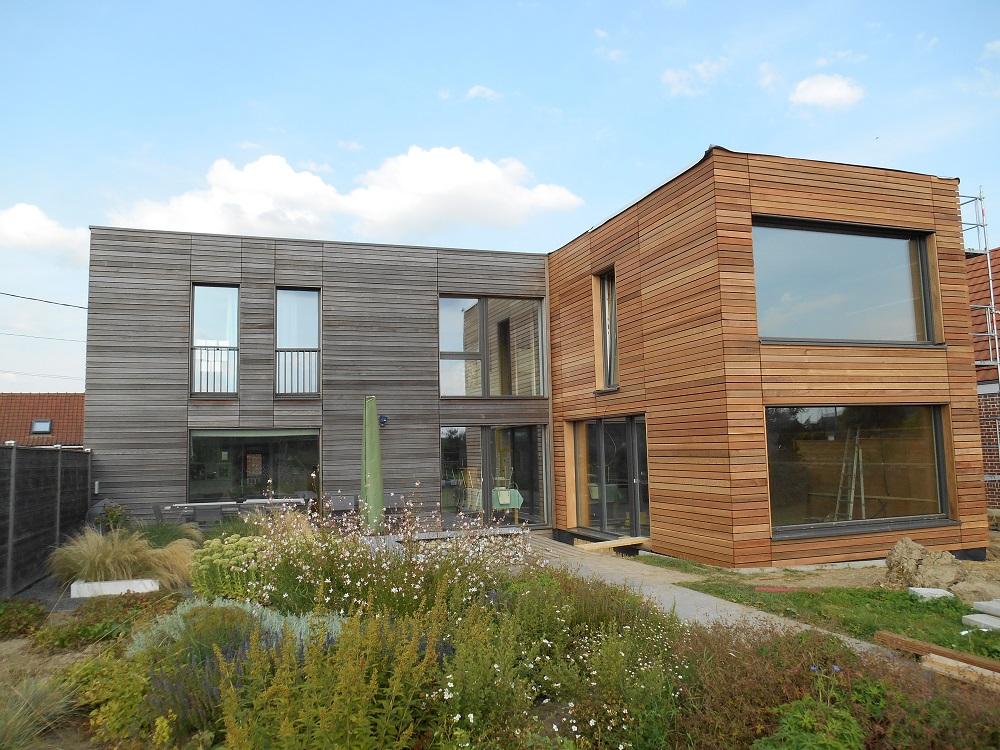 Extension de maison passive nord 59 tourmignies bati bois concept nord for Extension maison ossature bois prix