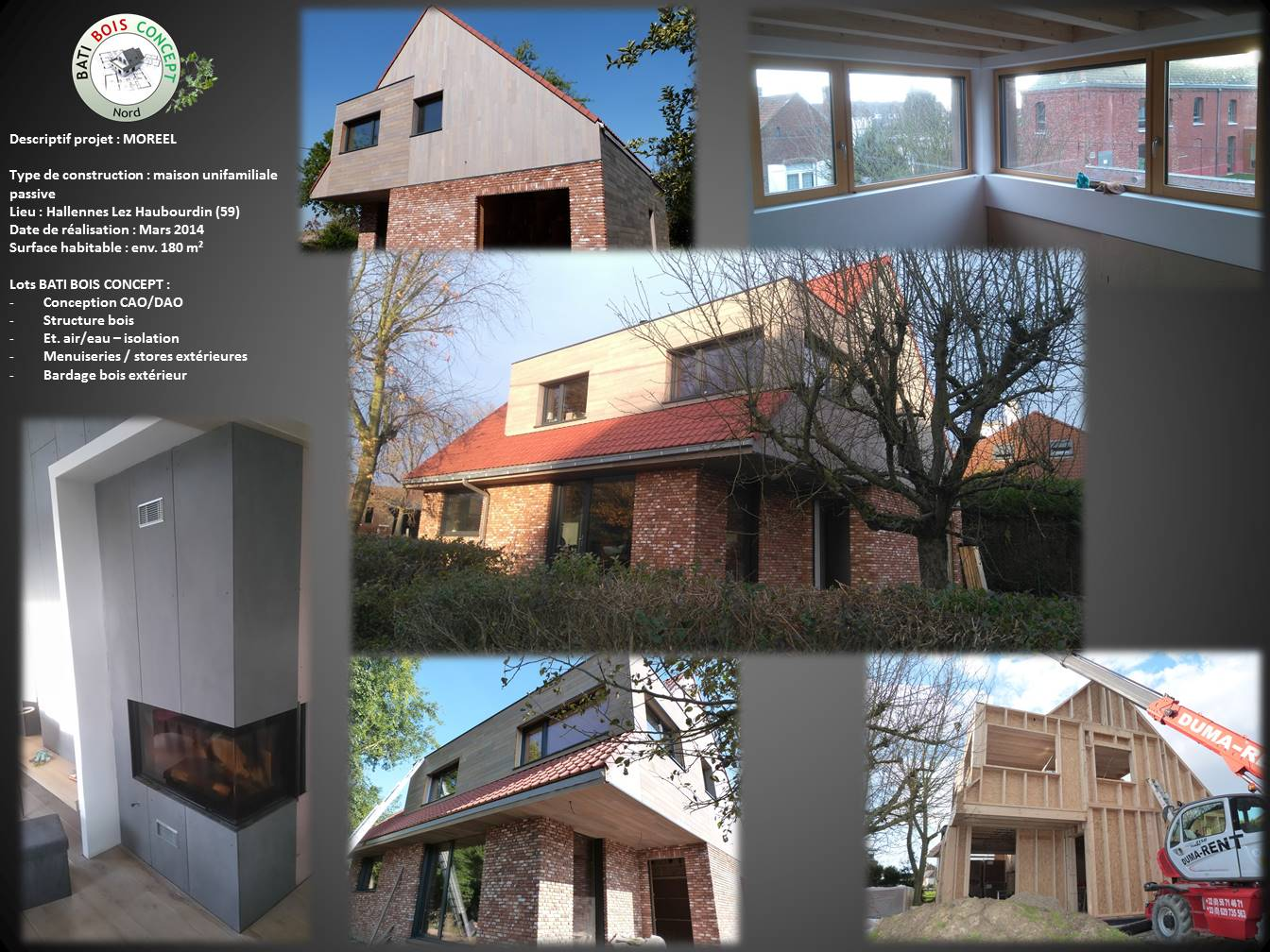Maison basse énergie  Nord (59)  Hallennes Lez  ~ Bois Energie Nord