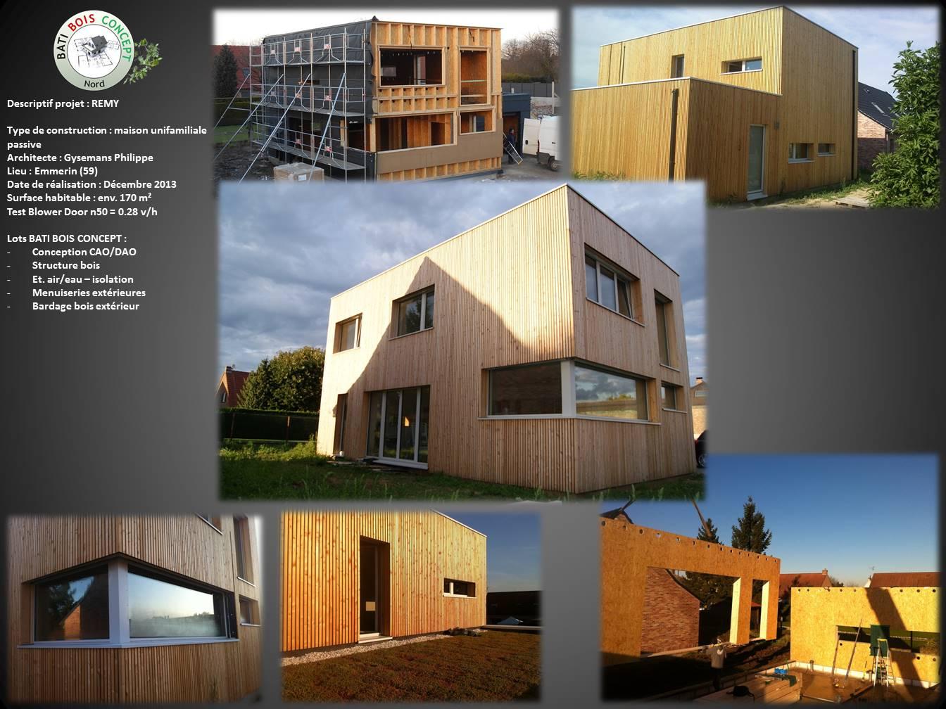 Maison passive nord 59 emmerin bati bois concept nord for Architecte maison passive