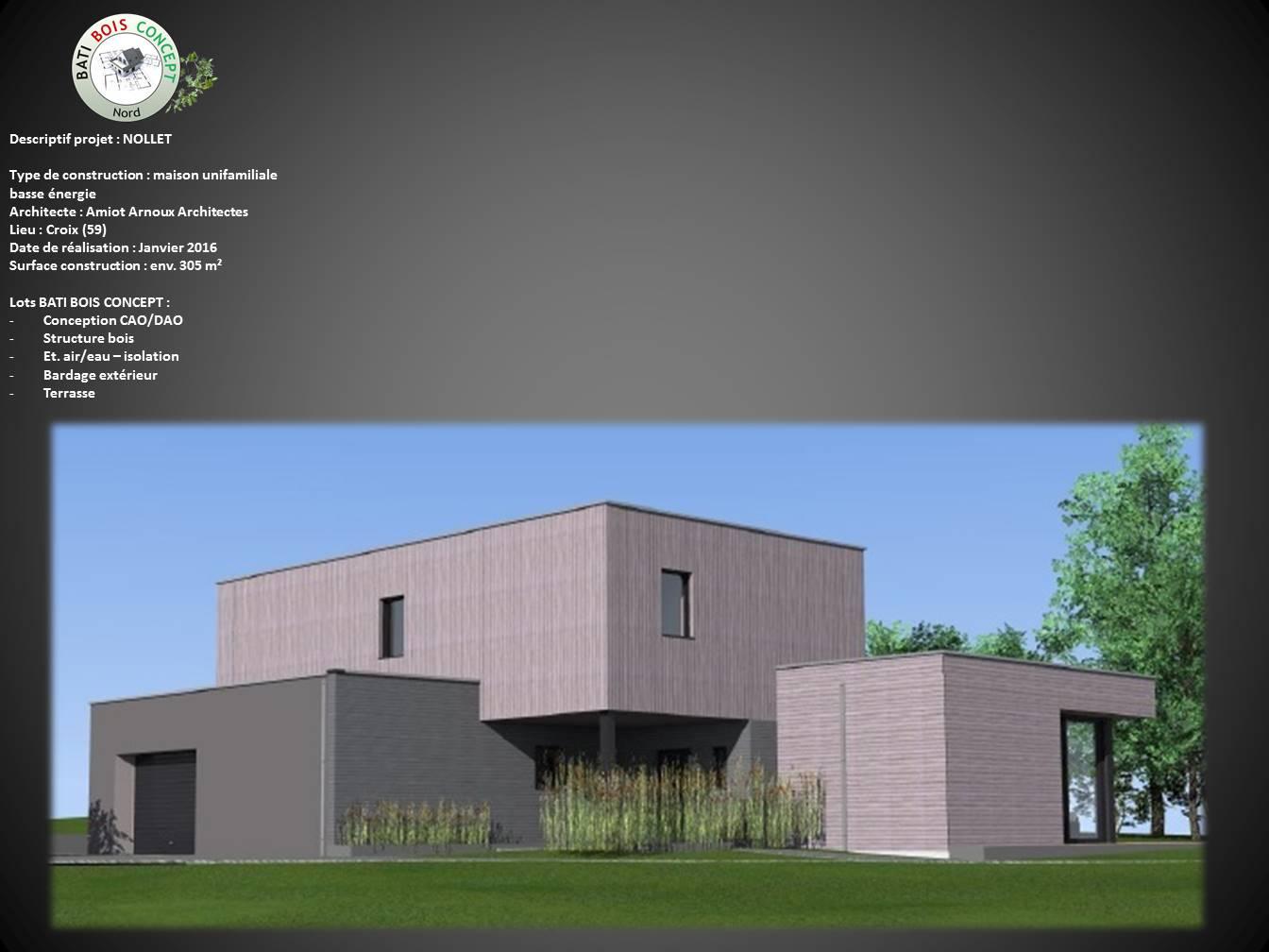 Maison basse énergie  Nord (59)  Croix  Bati Bois  ~ Bois Energie Nord