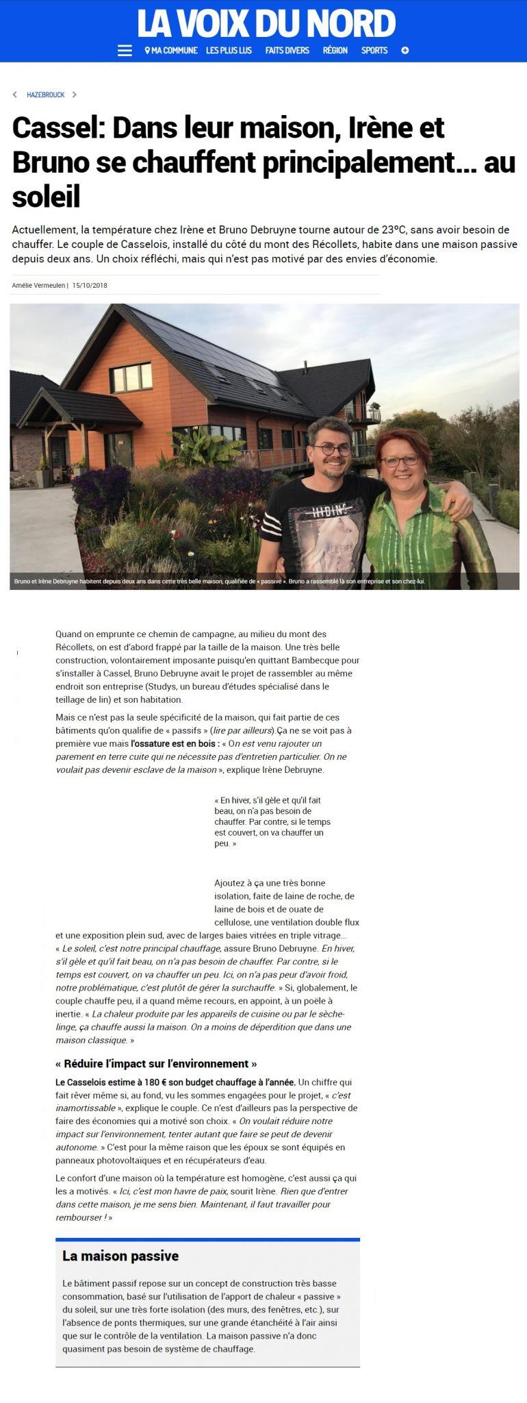 ARTICLE VOIX DU NORD 2018