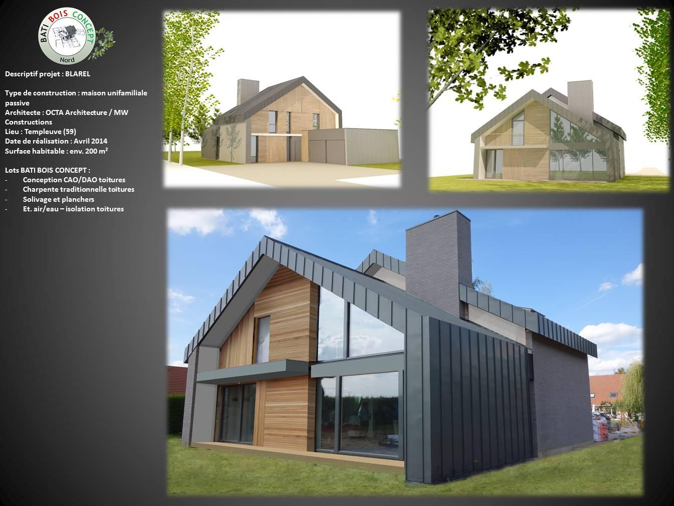 Maison passive nord 59 templeuve bati bois concept - Maison rustique bois architecte stillwater ...